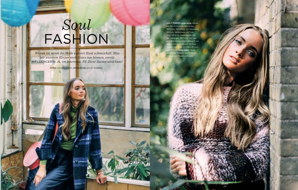 Emotion Slow Fair Fashion Shooting – Jil Zeletzki – Fotos Jewgeni Roppel – Produktion und Styling Lesley Sevriens – Lanius, Hessnatur, De Lostanges, Atelier Sevriens, Hiitu, Maiami