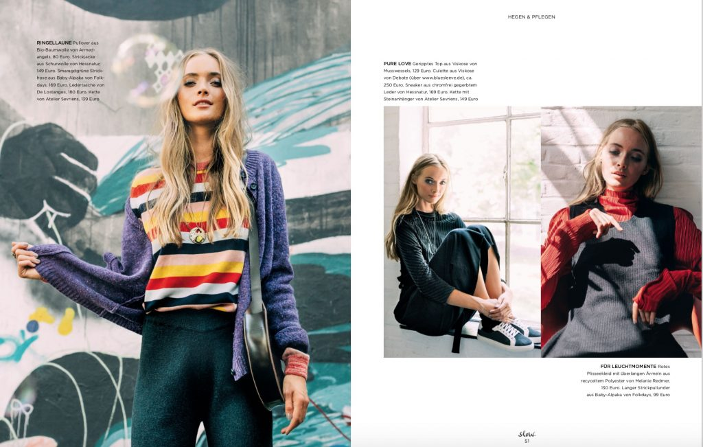 Emotion Slow Fair Fashion Shooting – Jil Zeletzki – Fotos Jewgeni Roppel – Produktion und Styling Lesley Sevriens – Hessnatur, Armedangels, Atelier Sevriens, De Lostanges, Folkdays