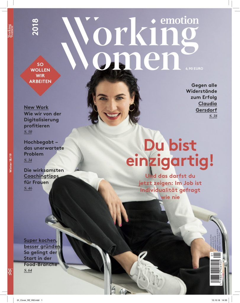 Cover – Emotion Working Women - mit Claudia Gersdorf - Styling Lesley Sevriens