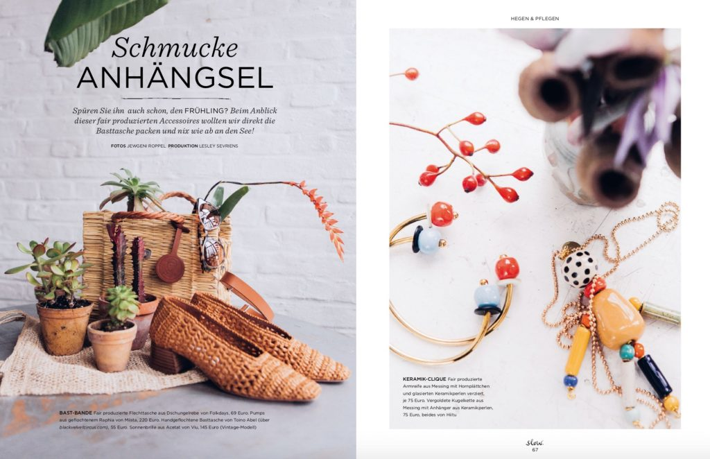 Emotion Slow Fair Fashion Accessoires Shooting – Fotos Jewgeni Roppel – Produktion und Styling Lesley Sevriens – Folkdays, Toino Abel, Viu, Hiitu, Miista