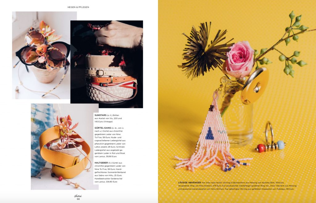 Emotion Slow Fair Fashion Accessoires Shooting – Fotos Jewgeni Roppel – Produktion und Styling Lesley Sevriens – Viu, Nine to Five, Lanius, Lellor, Hiitu, Karlotta Bott, Folkdays
