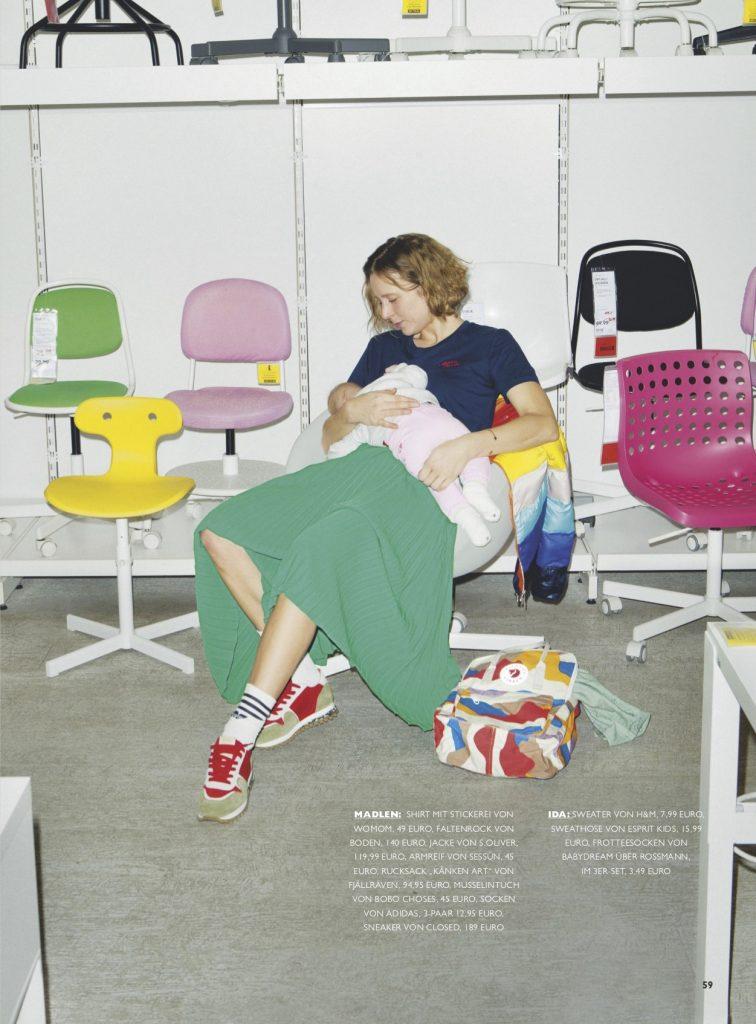 NIDO Modestrecke – Stillende Mütter – Styling – Lesley-Sevriens