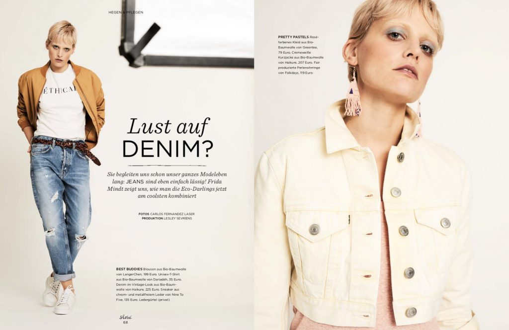 Emotion Slow Fair Fashion Denim Shooting – Fotos Carlos Fernandez Laser – Produktion und Styling Lesley Sevriens – Haikure, Langerchen, Dariadéh, Nine to Five, Greentee, Folkdays