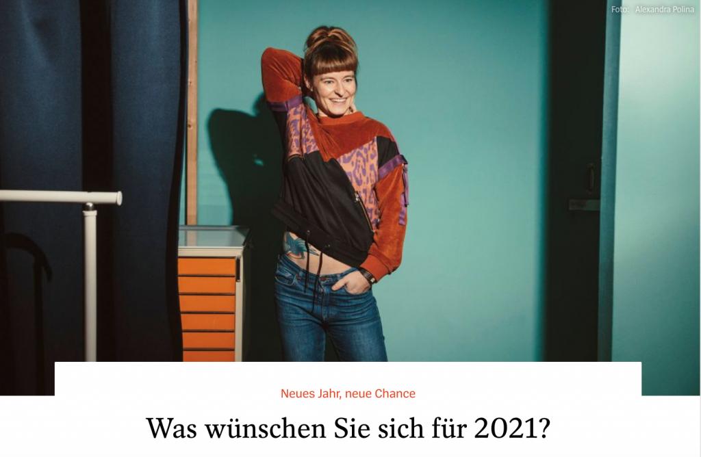 Was wünschen Sie sich für 2021 - Lesley Sevriens - Fotos Alexandra Polina