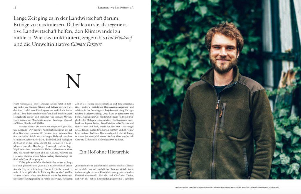 Werde Magazin: Reportage Biohof Gut Haidehof – Text Lesley Sevriens