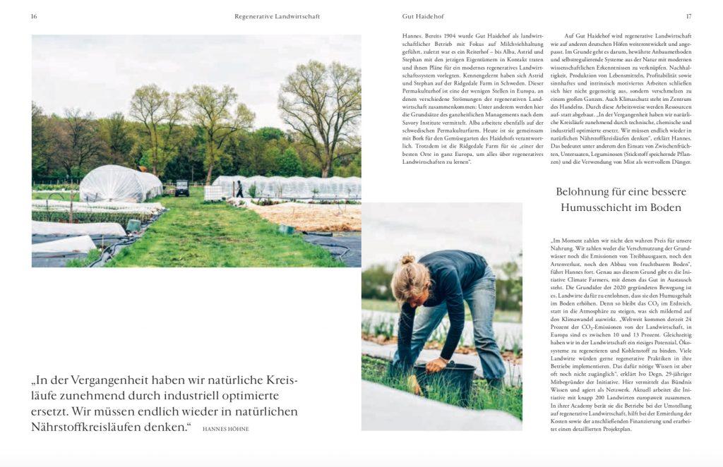 Werde Magazin: Reportage Biohof Gut Haidehof – Text Lesley Sevriens-6