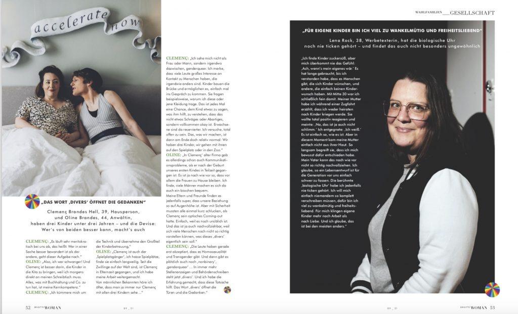 Brigitte Woman - Porträtserie Wie wir leben und lieben - Text Lesley Sevriens - Fotos Jewgeni Roppel-1